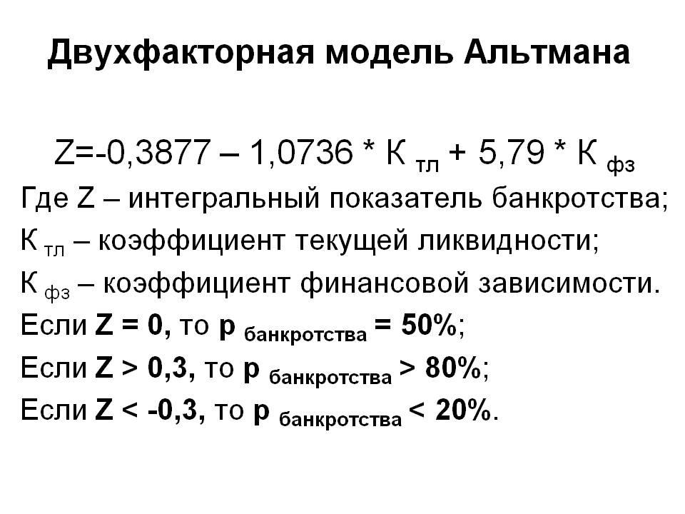 Двухфакторная модель Альтмана