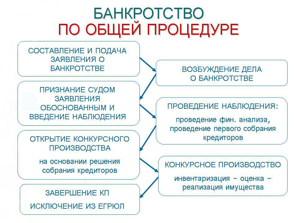 Пошаговая инструкция банкротства физических лиц 2019 года